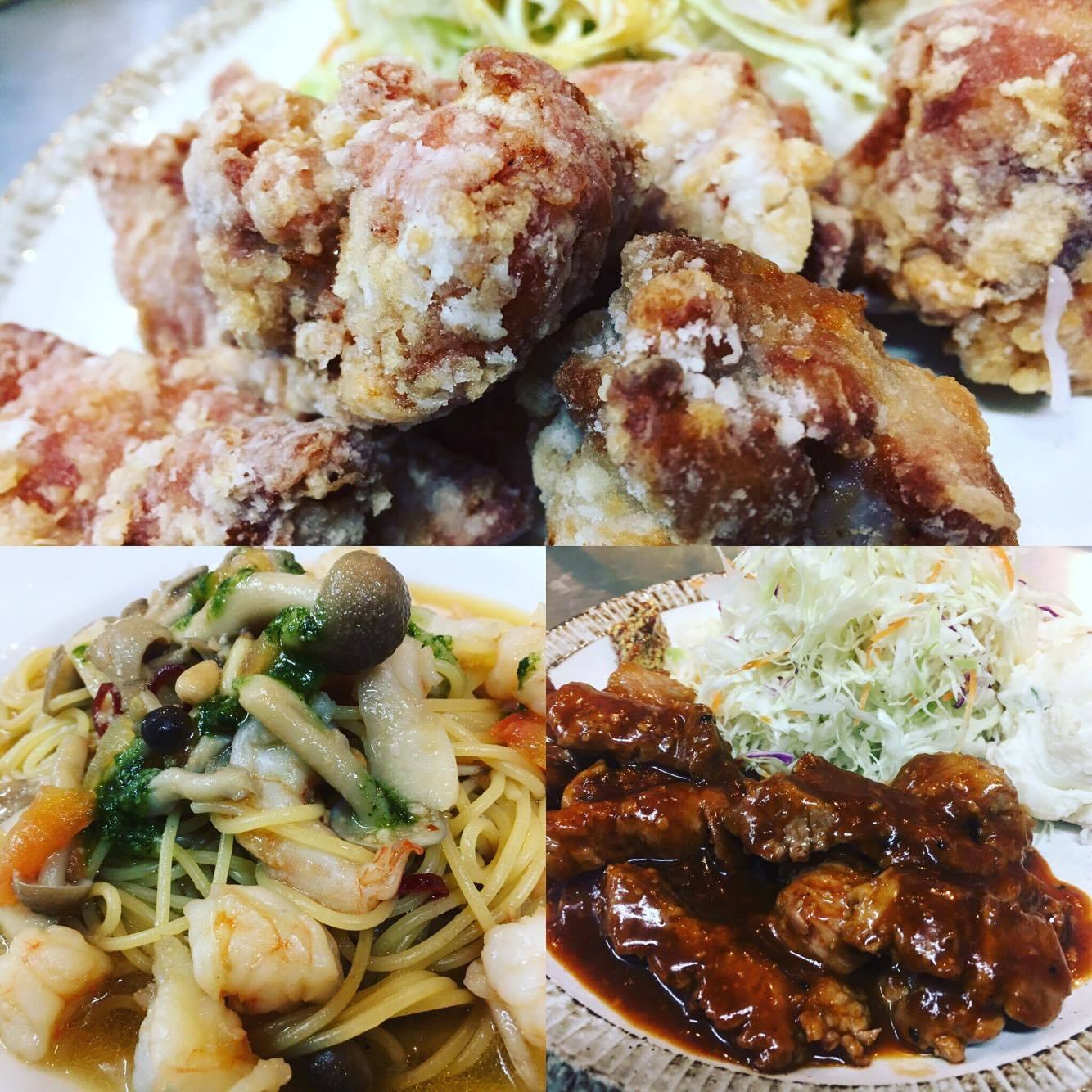 宮崎県宮崎市住吉地区広原の外山食堂。お昼の定食、ランチ、夜は創作料理の居酒屋の料理画像。